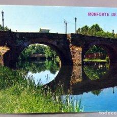 Postales: POSTAL MONFORTE DE LEMOS PUENTE ROMANO RÍO CABE EDICIONES ARRIBAS AÑOS 70 SIN CIRCULAR. Lote 289314433