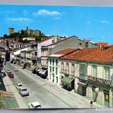 Postales: POSTAL MONFORTE DE LEMOS CALLE CARDENAL COCHES BANDO PASTOR EDICIONES ARRIBAS AÑOS 70 SIN CIRCULAR. Lote 289314713