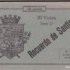 Postales: LA CORUÑA, SANTIAGO DE COMPOSTELA, BLOC POSTAL COMPLETO CON 20 POSTALES. ED. PAPELERIA EL SOL. Lote 289884853