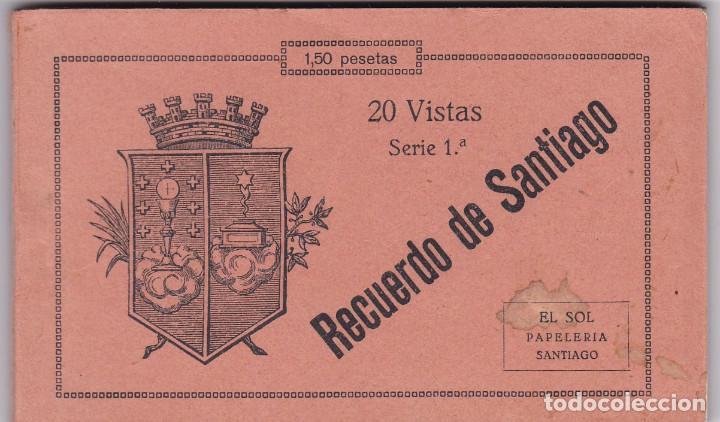 LA CORUÑA, SANTIAGO DE COMPOSTELA, BLOC POSTAL COMPLETO CON 20 POSTALES. ED. PAPELERIA EL SOL (Postales - España - Galicia Antigua (hasta 1939))