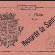 Postales: LA CORUÑA, SANTIAGO DE COMPOSTELA, BLOC POSTAL COMPLETO CON 20 POSTALES. ED. PAPELERIA EL SOL. Lote 289885463
