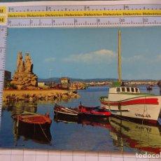 Postales: POSTAL DE PONTEVEDRA. AÑO 1975. EL GROVE MONUMENTO AL MARISCADOR 77 ARRIBAS. 1099. Lote 290047348