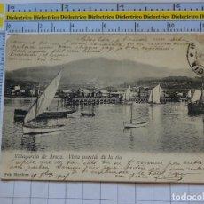 Postales: POSTAL DE PONTEVEDRA. SIGLO XIX - 1905. VILLAGARCÍA DE AROSA, VISTA PARCIAL DE LA RIA. MARTINEZ 1116. Lote 290048883