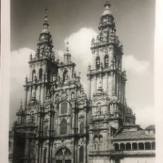 Postales: SANTIAGO COMPOSTELA PORTADA OBRADOIRO POSTAL CIRCULADA AÑOS 50 ED LUJO ZARAGOZA. Lote 290609643