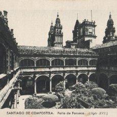 Postales: LA CORUÑA, SANTIAGO DE COMPOSTELA PATIO FONSECA. ED. KSADO. SIN CIRCULAR. Lote 293498363
