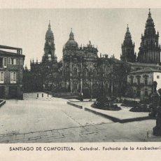 Postales: LA CORUÑA, SANTIAGO DE COMPOSTELA CATEDRAL FACHADA AZABACHERIA. ED. KSADO. SIN CIRCULAR. Lote 293498648