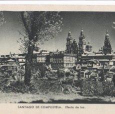 Postales: LA CORUÑA, SANTIAGO DE COMPOSTELA EFECTO DE LUZ. ED. KSADO. SIN CIRCULAR. Lote 293498813