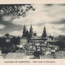 Postales: LA CORUÑA, SANTIAGO DE COMPOSTELA VISTA DESDE LA HERRADURA. ED. KSADO. SIN CIRCULAR. Lote 293498933