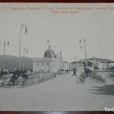 Postales: POSTAL DE LA EXPOSICION REGIONAL GALLEGA. SANTIAGO DE COMPOSTELA, SECCION CONTEMPORANEA, GRAN PLAZA. Lote 294551378
