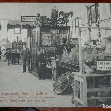 Postales: POSTAL DE LA EXPOSICION REGIONAL GALLEGA. SANTIAGO DE COMPOSTELA, SECCION CONTEMPORANEA, INTERIOR DE. Lote 294551483