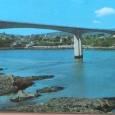Cartoline: POSTAL RIBADEO. PUENTE DE LOS SANTOS SOBRE LA RIA DEL EO. 1988. Lote 294862623