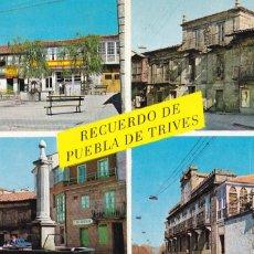Postales: ORENSE, PUEBLA DE TRIVES VARIAS VISTAS. ED. POSTAL INTER BURGOS Nº 1. AÑO 1966. CIRCULADA. Lote 294938088