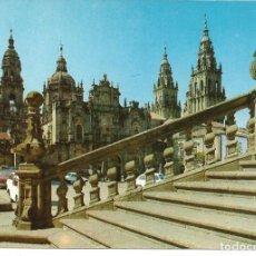 Postales: POSTAL SANTIAGO DE COMPOSTELA - CATEDRAL, FACHADA AZABACHERÍA - FAMA 1972 - NUEVA. Lote 295287108