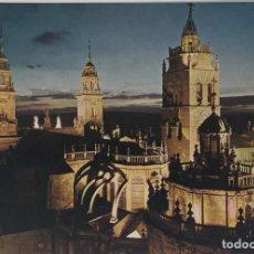 Postales: LUGO, TORRE DE LA CATEDRAL NOCTURNA. ARRIBAS. SIN CIRCULAR.. Lote 295291293