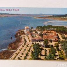 Postales: POSTAL - ISLA DE LA TOJA - VISTA PARCIAL AEREA 22 - S/C. Lote 296945043