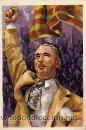 POSTAL ORIGINAL PRESIDENTE DE LA GENERALIDAD DE CATALUÑA D.LUIS COMPANYS (Postales - Postales Temáticas - Guerra Civil Española)