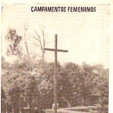 Postales: CAMPAMENTOS FEMENINOS FRENTE JUVENTUDES. Lote 5354515
