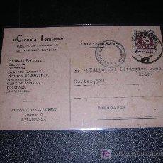 Postales: POSTAL CENSURA MILITAR, SALAMANCA 1939. Lote 5370792