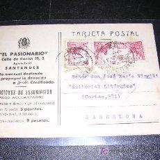 Postcards - POSTAL CENSURA MILITAR, SANTANDER, EL PASIONARIO, 1939 - 5370822