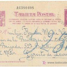 Postales: GUERRA CIVIL. POSTAL ENVIADA A UN SOLDADO DEL EJÉRCITO REPUBLICANO. EJÉRCITO DE LEVANTE. Lote 5534082