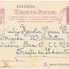 Postales: GUERRA CIVIL. POSTAL ENVIADA A UN SOLDADO DEL EJÉRCITO REPUBLICANO. EJÉRCITO DE LEVANTE. Lote 5534088