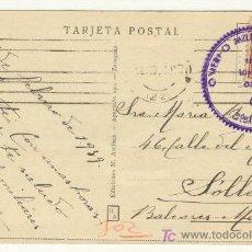Postales: POSTAL DEL 17 FEBRERO DE 1939 DE SAN SEBASTIÁN A SÓLLER MALLORCA CUERPO MILITAR. Lote 25760465