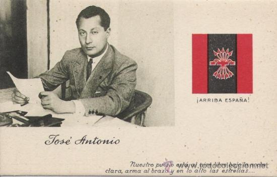 POSTAL ANTIGUA FALANGE, JOSE ANTONIO PRIMO DE RIVERA (Postales - Postales Temáticas - Guerra Civil Española)