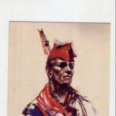 Postales: TARJETA GUERRA CIVIL ESPAÑOLA (1936-1939): MILICIANO ANONIMO. Lote 16202643