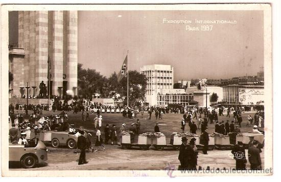 EXPOSITION INTERNATIONALE PARIS 1937 Nº 103 VUE GENERALE CH CIRCULADA 1937 CENSURA REPUBLICANA (Postales - Postales Temáticas - Guerra Civil Española)
