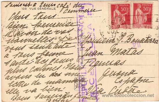 Postales: Sello de la censura y letra - Foto 2 - 18104341