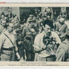 Postales: POSTAL EL CAUDILLO EN EL ALCAZAR. Lote 1910836
