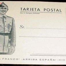 Postales: ANTIGUA TARJETA POSTAL - FRANCO - SALUDA A FRANCO - ARRIBA ESPAÑA - VIVA ESPAÑA - NO CIRCULADA - IM. Lote 2817807