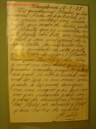 Postales: BARCELONA 16-7-1938 - DESTINO DE LA POSTAL : CULLERA (VALENCIA) - Foto 2 - 16733877