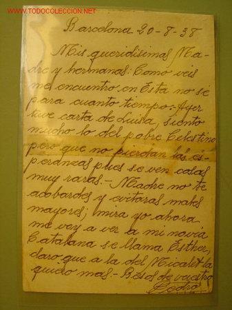 Postales: BARCELONA 20-8-1938 - DESTINO DE LA POSTAL : MINAYA (ALBACETE) - Foto 2 - 16733881