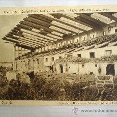 Postales: TRIPTICO DE PROPAGANDA - CIRCO IMPERIAL-OVIEDO CIUDAD MARTIR- STADIUM DE BUENAVISTA--1940. Lote 24929438