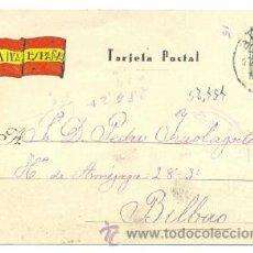 Postales: TARJETA POSTAL PATRIÓTICA VIVA ESPAÑA .. CIRCULADA 1938 .. CENSURA DE BILBAO. Lote 16698325