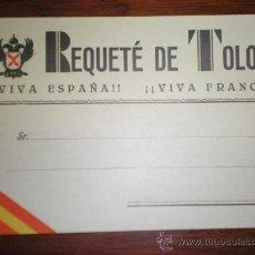 Cartoline: TARJETA POSTAL REQUETE DE TOLOSA MILITAR GUERRA CIVIL GUIPUZCOA - CARLISMO. Lote 145571209