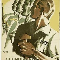 Postcards - POSTAL GUERRA CIVIL ESPAÑOLA. UNION, DISCIPLINA POR EL SOCIALISMO. POUM CARLES FONSERE. SIN CIRCULAR - 15223959