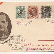 Postales: POSTAL GENERAL VARELA. ED. JUAN MARRA. MATASELLOS 1937 AMBULANTE MIXTO SEVILLA - MERIDA. . Lote 16045086