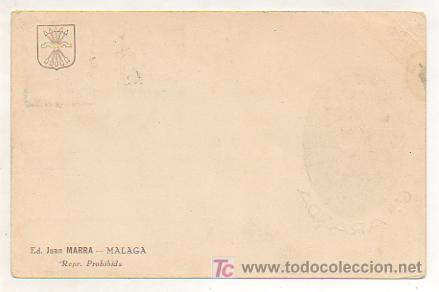 Postales: POSTAL GENERAL ARANDA. ED. JUAN MARRA. MATASELLOS 1937 MALAGA. - Foto 2 - 16045104
