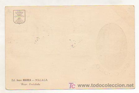 Postales: POSTAL GENERAL GODED. CIRCULADA. ED. JUAN MARRA. MALAGA MATASELLOS 10 DE MAYO DEL 37. - Foto 2 - 16045022
