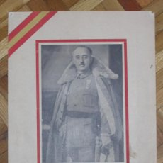 Postales: LAMINA RETRATO GENERALISIMO EJERCITOS Y ESTADO MAYOR EXCMO SR. D. FRANCISCO FRANCO BAHAMONDE . Lote 26735844