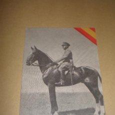 Postales: POSTAL EXCMO. SR. D. FRANCISCO FRANCO (URIARTE-ZARAGOZA). Lote 18417314