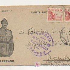 Postales: TARJETA POSTAL. VIVA ESPAÑA, VIVA FRANCO. CORREO VIZCAYA, CENSURA MILITAR. 1939. . Lote 17607181