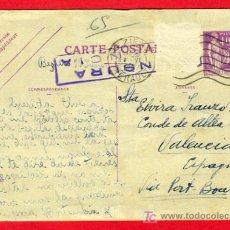 Postales: POSTAL GUERRA CIVIL , CENSURA MILITAR , FRANCIA , P43. Lote 25971501