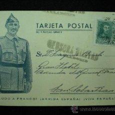 Postales: TARJETA POSTAL. GUERRA CIVIL ESPAÑOLA. FRANCO. CENSURA MILITAR. 1938.. Lote 19542758