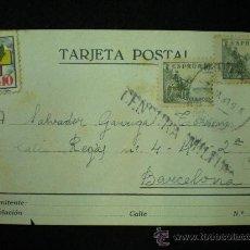 Postales: TARJETA POSTAL. GUERRA CIVIL ESPAÑOLA. CENSURA MILITAR. 1939.. Lote 19542813