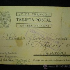 Postales: TARJETA POSTAL. GUERRA CIVIL ESPAÑOLA. FRANCO. CENSURA MILITAR. 1939.. Lote 19542899