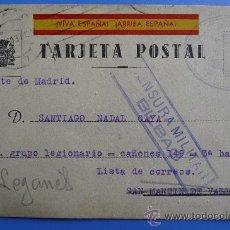 Postales: (JAI-17)TARJETA POSTAL DE CAMPAÑA-GUERRA CIVIL. Lote 22420456