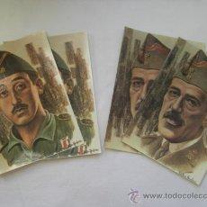 Postales: CUATRO POSTALES. PERSONAJES DE LA LEGIÓN. TENIENTE CORONEL VALENZUELA, COMANDANTE FRANCO.. Lote 24371507